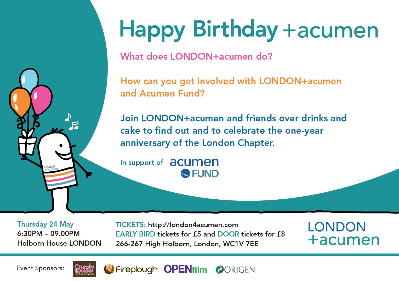 Happy Birthday LONDON+acumen